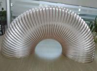 PU聚氨酯风管木工吸尘管通风除尘软管透明钢丝软管伸缩软管