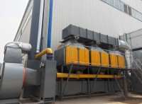 廣州烤漆房催化燃燒設備裝置活性炭吸附脫附箱5萬風量什么價位