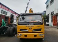 东风福瑞卡4吨直臂黄牌随车吊厂家质量好配置高