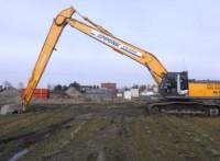 山东神钢sk400挖掘机加长臂专业快速