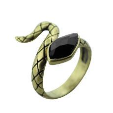 小商品批发市场 哈利波特斯莱特林学院徽章蛇戒指 饰品 新款