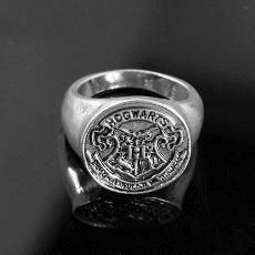 小商品批发市场 哈利波特学院徽章戒指 饰品 新款