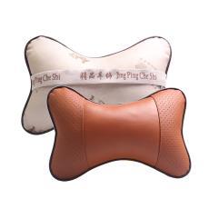 汽车用品 TP 汽车立体全皮革头枕 护颈枕头单只 透气骨头枕