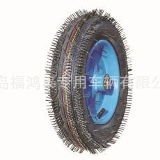 生产批发工具车手推车10寸12寸橡胶充气轮实心轮PU发泡轮胶粉轮