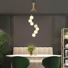 家装灯饰北欧简约创意餐厅客厅书房艺术吊灯后现代全铜轻奢吊灯