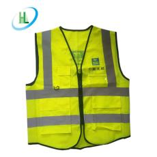 厂家批发多口袋反光背心 印字荧光反光背心 工地环卫交通反光衣