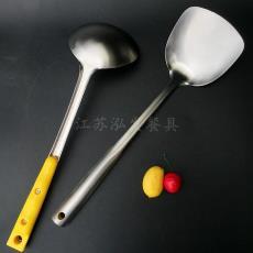 砂光至尊柄 厂家批发厨具 汤勺 小商品市场批发家用不锈钢炒菜铲