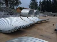 沥青二次防腐波纹涵管 整装钢波纹管厂家供应