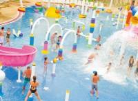 户外水上乐园滑梯 儿童戏水小品设备 水上乐园厂家水屋水寨设施
