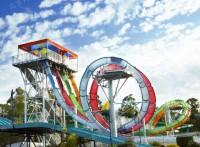 大型水上乐园滑梯冲天螺旋玻璃钢滑梯儿童戏水小品设备水屋水寨