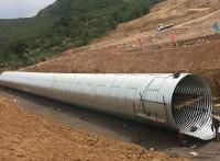 分段式钢波纹管 法兰连接波纹钢管