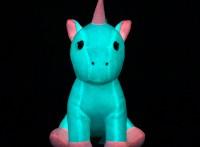 DULKISS夜光毛绒玩具,乖巧坐姿独角兽,厂家直供可定制