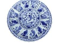 超大号特大圆形盘子白色浅盘子陶瓷40cm酒店海鲜平盘
