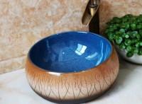 台上洗手盆家用面盆陶瓷卫生间单盆阳台洗漱台小尺寸防溅水洗脸盆