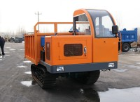 全地形履带运输车 4吨履带运输翻斗自卸车
