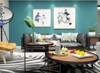 北海海逸豪园二房一厅现代风格装修设计与软装配套