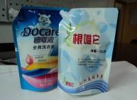 供应山丹县自立吸嘴袋/洗衣液包装袋/可按样品生产