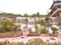 碗场坝生态广场假山瀑布景观?