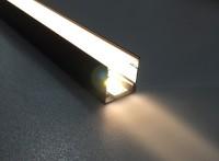 中山诺帝黑色线条灯黑色灯槽led灯带厂家供应