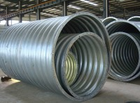 钢波纹管现货供应 直径4米拼装钢波纹管涵