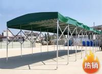 青岛定制大型移动推拉蓬活动棚仓库伸缩遮雨棚折叠帐篷收缩遮阳蓬