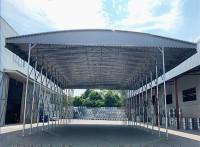 武汉大排档帐篷推拉棚雨棚移动帐篷伸缩活动篷室外仓库棚