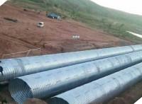 公路涵洞排水管道板片搭接钢波纹管 整装金属波纹管涵促销