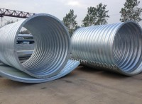 整装金属波纹管涵包运输板片搭接波纹管圆管生产