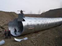 包头直径4米钢波纹管螺旋波纹管涵,钢波纹涵管