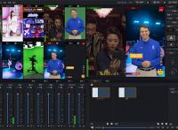 新维讯竖屏直播一体机-强大的可视化编辑-无轨虚拟演播室