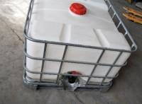 供应深圳IBC镀锌钢架叉车1000L方形白色大开口吨桶