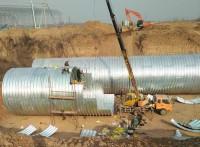 波纹涵管供应石嘴山直径6米钢波纹管金属波纹涵管