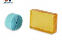 祺星热熔胶黄色块状压敏胶持粘力强塑料用粘扣带胶