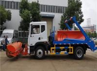 供应东风多利卡摆臂垃圾车铲加装雪滚除雪  除雪车生产厂家