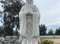 惠安石雕廠家供應漢白玉孔子雕像 校園名人石雕孔子