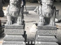 福建石雕廠家定制石雕貔貅,別墅門口石雕擺件青石貔貅
