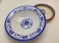 上海壹粵密胺餐具青花瓷涼皮涼菜拌面碗,涼皮小菜仿瓷餐具碗廠家