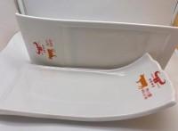 壹粵密胺餐具牛羊肉盤子,定制牛肉盤廠家,白色仿瓷餐具定制