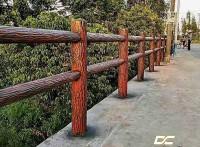 广东云浮仿木护栏-水泥仿木栏杆市政景观护栏-鼎成龙升景观
