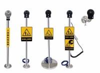 防爆人體靜電消除釋放器亞導體球/帶真人語音光報警裝置工業靜電