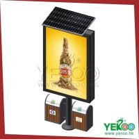 厂家直供户外_太阳能_垃圾桶_滚动_立式广告灯箱批量生产