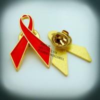 艾滋病徽章、紅絲帶徽章、鋅合金徽章、襟章定制