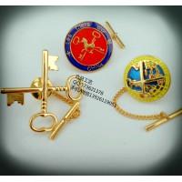 金钥匙徽章定制、胸徽订做、勋章制作、徽章广州、襟章广州
