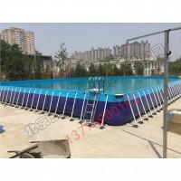 厂家定做支架游泳池 戏水池充气游泳池养鱼池广场生意泳池