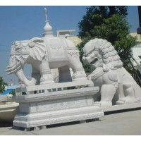 嘉祥汉鼎石雕动物系列:大象、狮子、麒麟、貔貅 技艺精湛