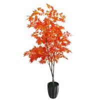 仿真植物红枫树绿枫树盆栽假植物 绿霸室内装饰仿真树绿植盆景