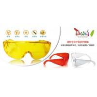 防护安全眼镜 白色/黄色/红色护目镜