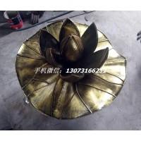 仿铜不锈钢荷花 抽象荷花雕塑