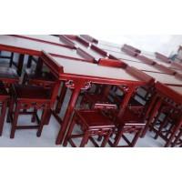 河北衡水生产榫卯结构实木书画桌