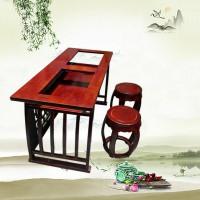 小马腾翔生产原木色实木临摹桌椅